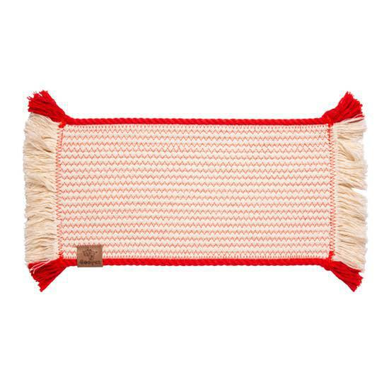 Ore Rope placemat - red trim