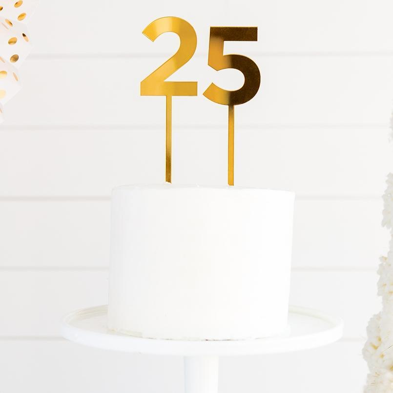 Party Gold Acrylic Numbers for Cakes