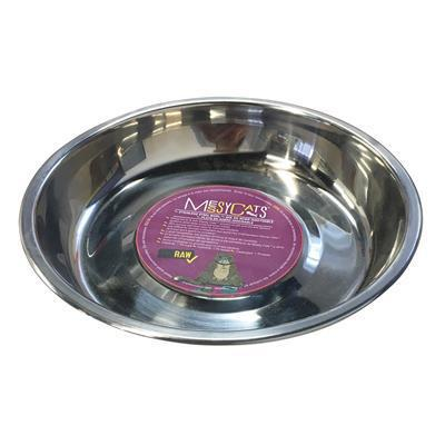 Messy Mutts Stainless Saucer Shaped Bowl