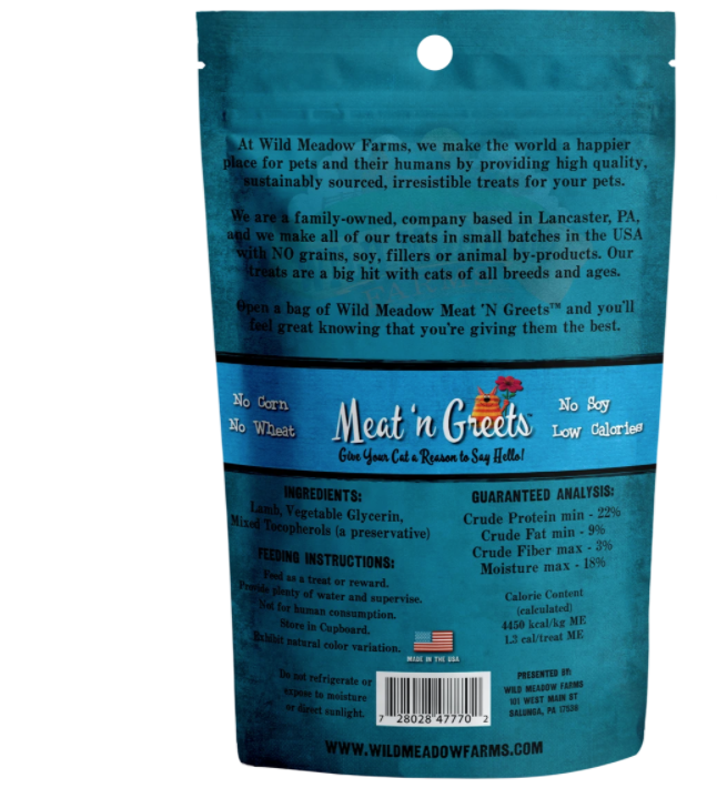 Wild Meadow Cat - Meat n Greet Lamb 2oz