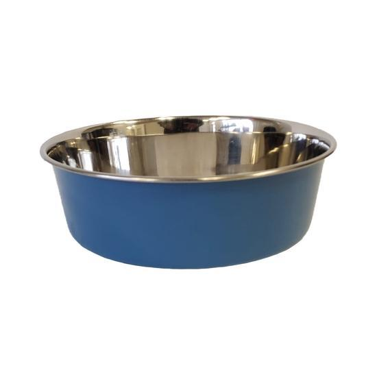 Jojo Heavy Gauge Dog Bowls with Rubber Ring Base in Blue