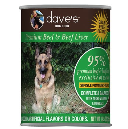 Daves 95% Beef and Beef Liver 13oz can