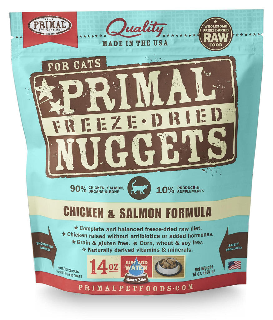 Primal Feline Freeze dried Chicken Salmon 14oz