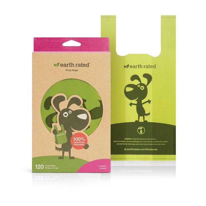 Earth Rated PoopBags 120 Biodegradable Handle bags