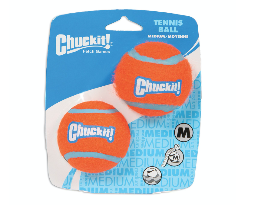 CHUCKIT Tennis Ball Shrink 2Pack MD