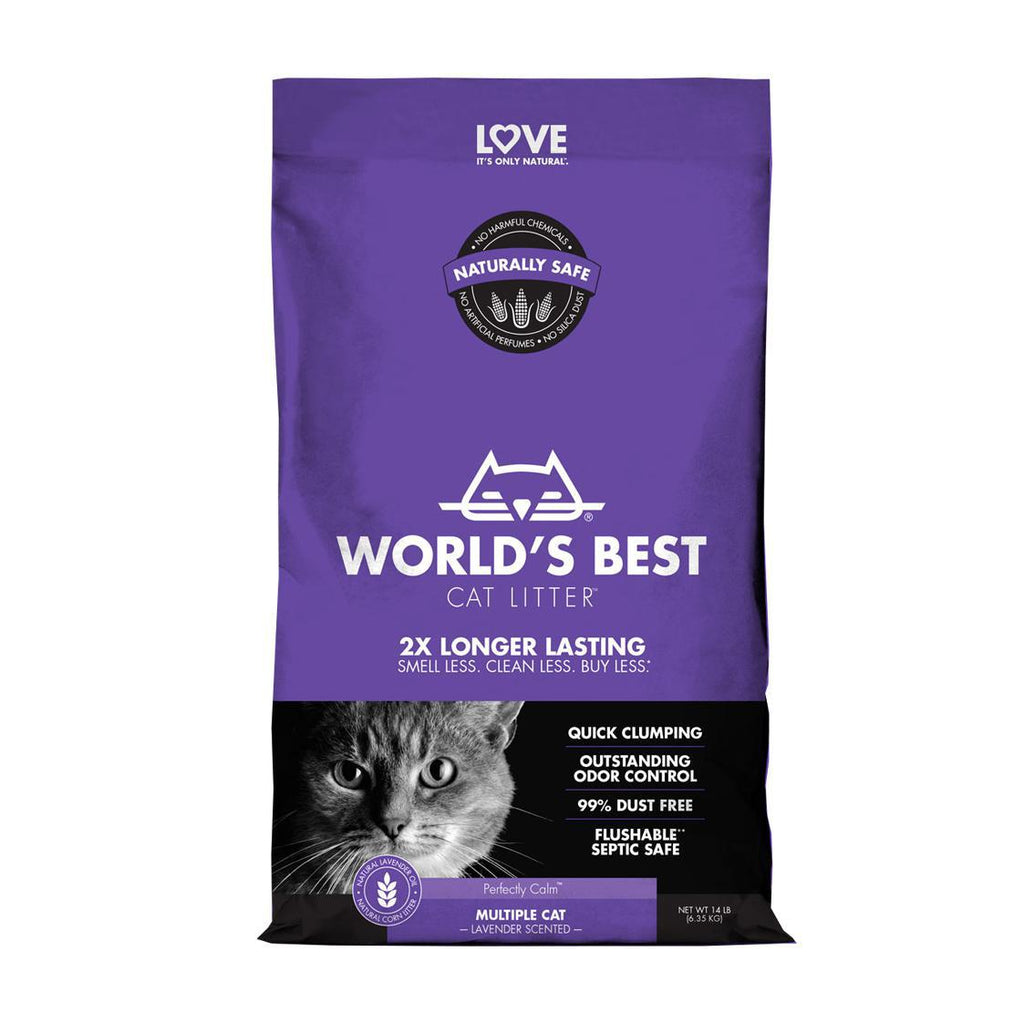World Best Cat Litter Multi Cat Scented 8lb