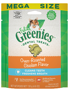 Greenies Feline Dental Chicken treat 4.6 oz