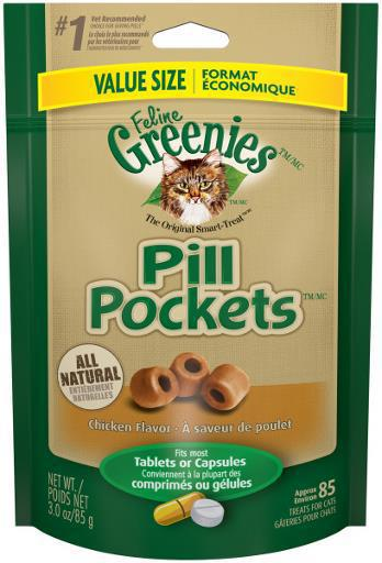 Greenies Feline Pill Pockets Value Size Chicken 3oz