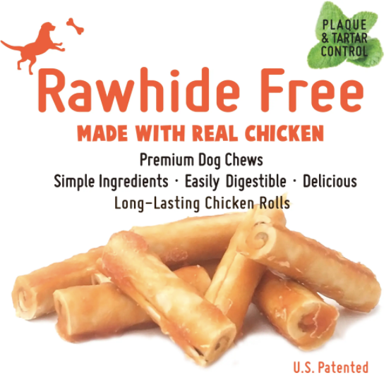 Whole Chew RAWHIDE FREE Chicken Large