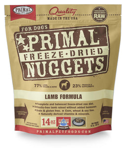 Primal Canine Freeze dried Nugget Lamb 14oz