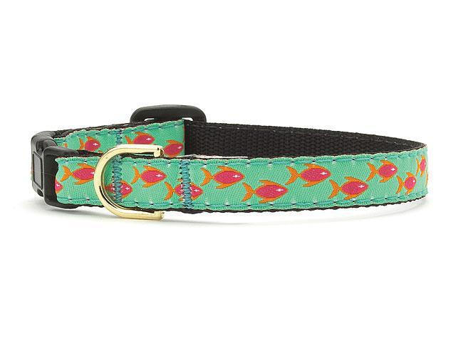 Up Country Tropical Fish cat collar Size 12