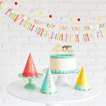 Load image into Gallery viewer, Hip Hip Hooray Party Hats set of 9