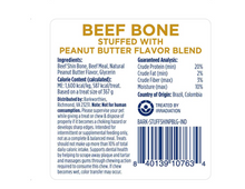 Load image into Gallery viewer, Barkworthies Shin bone Peanut butter 3-4""
