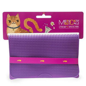 Messy Mutts - silicone litter mat PURPLE