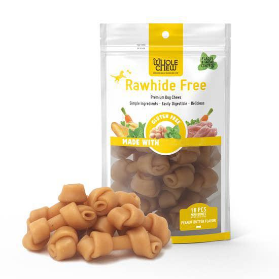Whole Chew RAWHIDE FREE Peanut Butter Minis