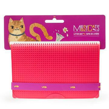 Messy Mutts - silicone litter mat RED