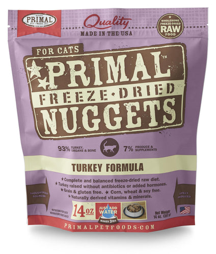 Primal Feline Freeze dried Turkey 14oz