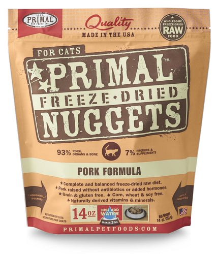 Primal Feline Freeze Dried Pork 14oz