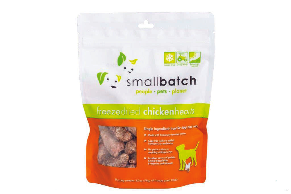 Small Batch Freeze Dried Chicken Hearts 3.5oz