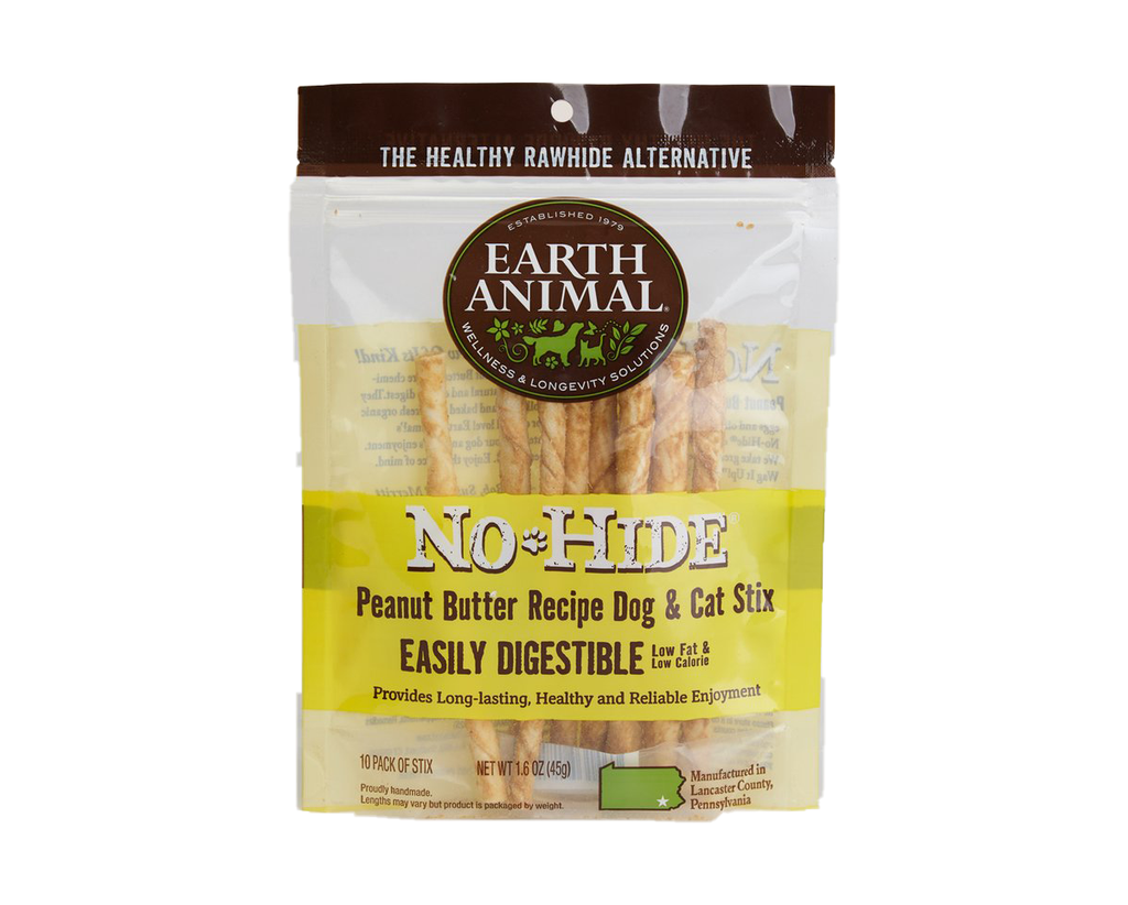 Earth Animal NO HIDE Stix Peanut Butter 10Pack