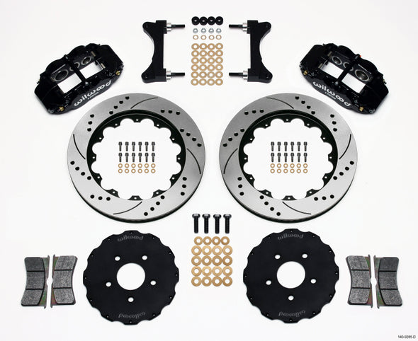 Wilwood Narrow Superlite 6R Front Hat Kit 14.00in Drilled Mitsubishi EVO VIII