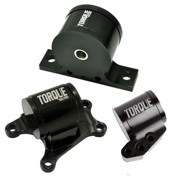 Torque Solution Billet Aluminum 3 piece Engine Mount Kit: Mitsubishi Evolution VII-IX 2001-2006