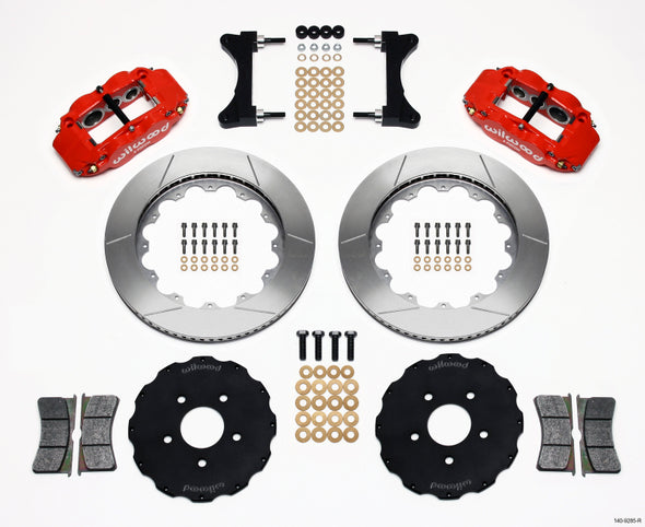 Wilwood Narrow Superlite 6R Front Hat Kit 14.00in Red Mitsubishi EVO VIII