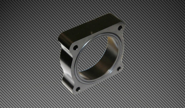 Torque Solution Throttle Body Spacer 2013 Ford Focus ST - Black