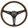 Nardi Classic Wood/Black Spoke Steering Wheel - 360mm