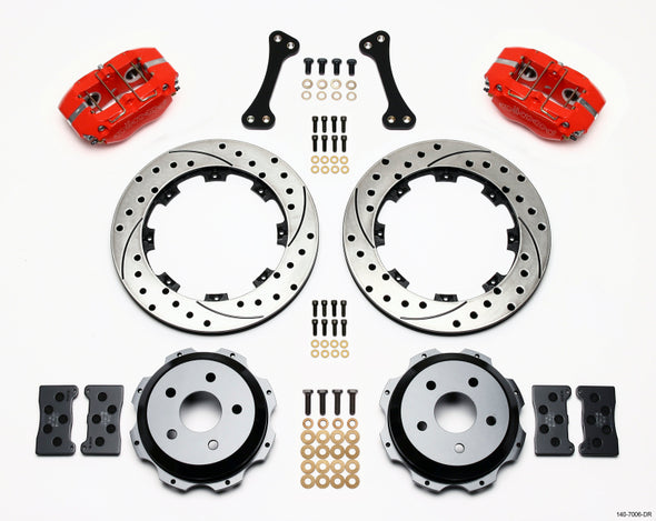 Wilwood Dynapro Rear Kit 12.19in Drilled Red Subaru Impreza WRX