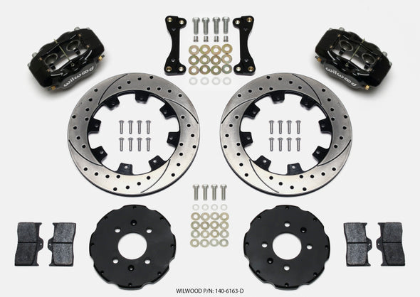 Wilwood Forged Dynalite Front Hat Kit 12.19in Drilled 94-01 Honda/Acura w/262mm Disc
