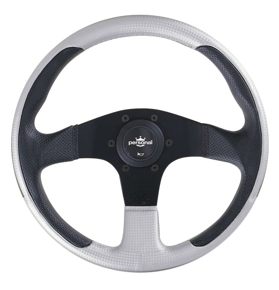 Personal New Racing Black/Silver Leather - 320mm