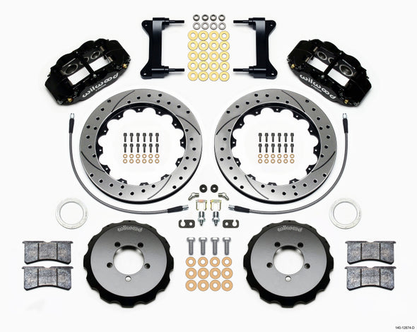 Wilwood Narrow Superlite 6R Front Hat Kit 13.06in Drilled 1999-2012 Subaru WRX w/Lines