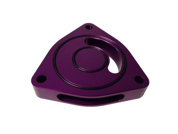 Torque Solution Blow Off BOV Sound Plate (Purple): 2016 + Honda Civic Si