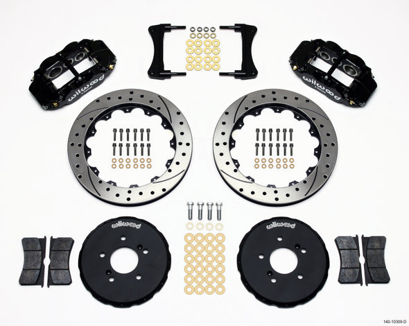 Wilwood Narrow Superlite 6R Front Hat Kit 12.88in Drilled Honda S2000