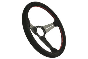 Nardi Sport Rally Deep Corn Black Suede/Red Stitch - 350mm