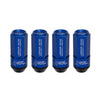 Project Kics Leggdura Shell 53mm Lug Nuts w/ Wheel Locks in Blue - 12x1.25