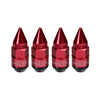 Project Kics Leggdura Dangan Shell Lug Nuts w/ Wheel Locks in Red - 12x1.50