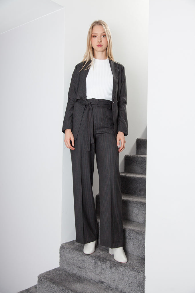 BELTED PANT ANTHRACITE GREY