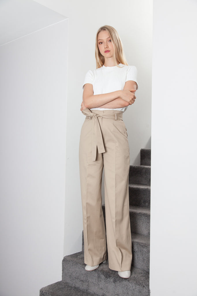BELTED PANT BEIGE