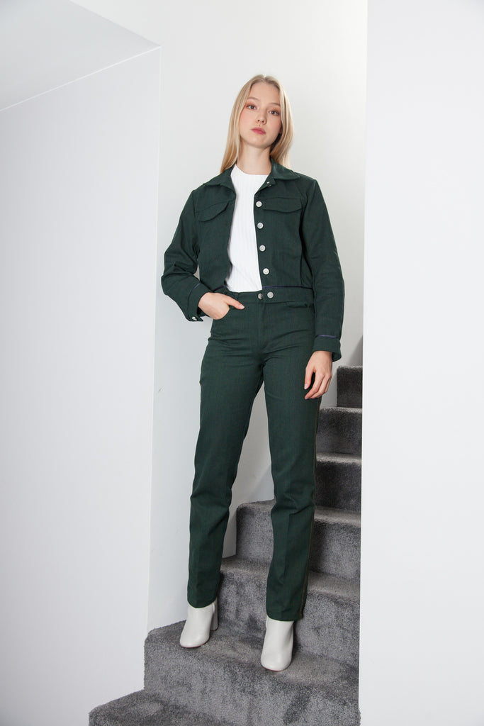 BOXY JACKET FOREST GREEN
