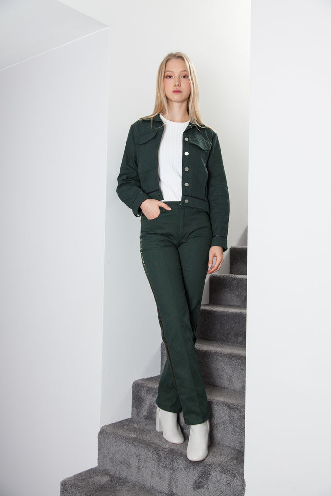 BOYFRIEND PANT FOREST GREEN