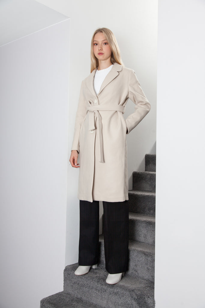 LONG COAT SOFT PINK