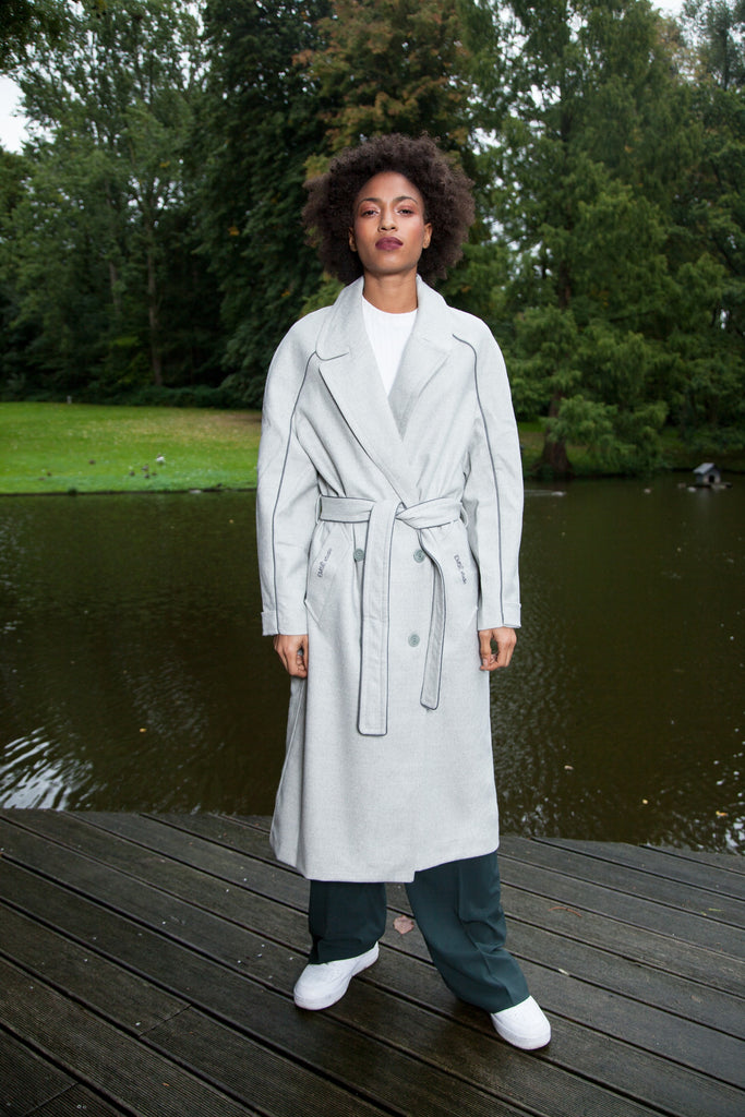 OVERSIZE LONG COAT GREY