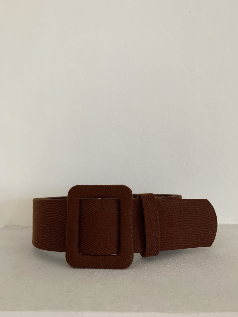 LEATHER BELT CHOCOLATE