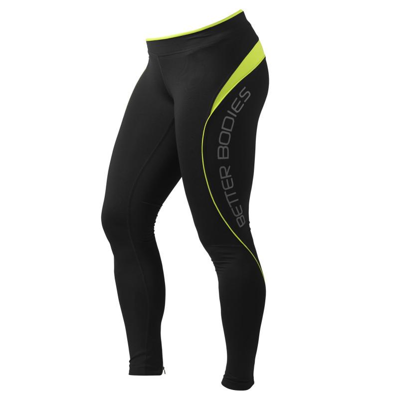Better Bodies Fitness Long Tights lime
