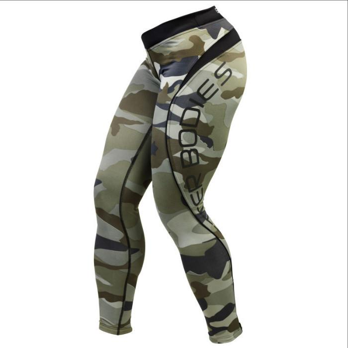 Better Bodies Camo Long Tights green camo