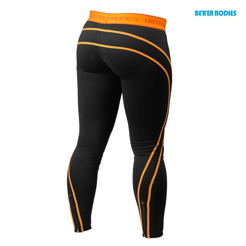Better Bodies Women's Athlete Tights black/orange