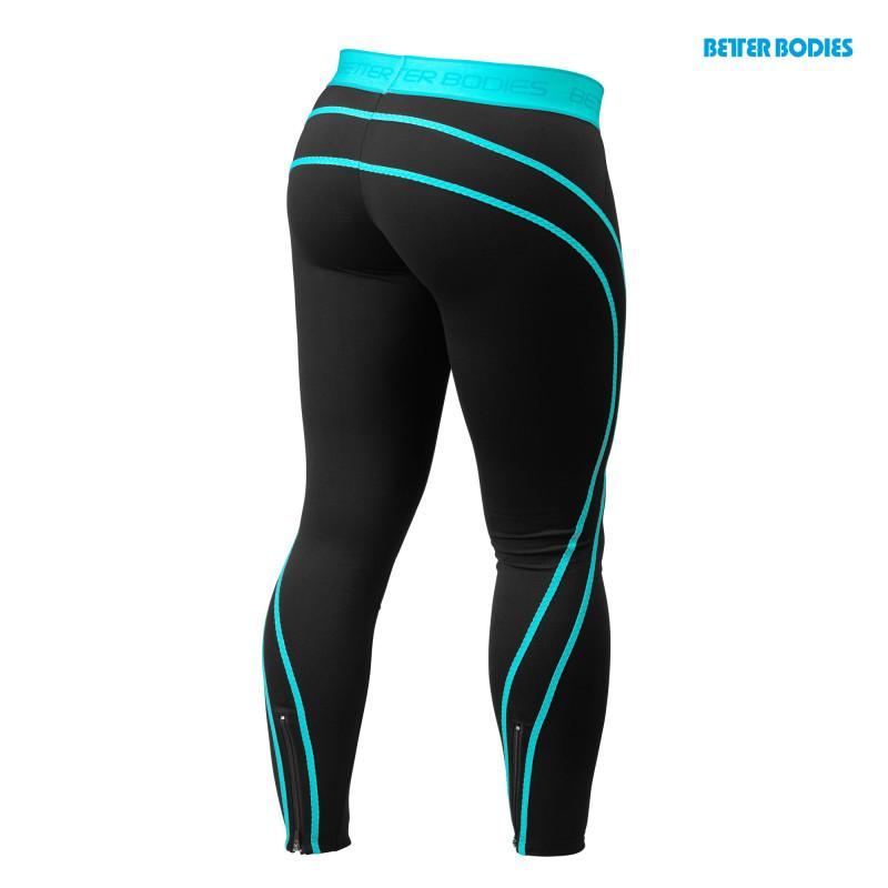 Better Bodies Women's Athlete Tights black/aqua