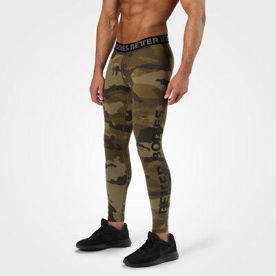 BETTER BODIES MEN´S HUDSON LOGO TIGHTS DARK GREEN CAMO